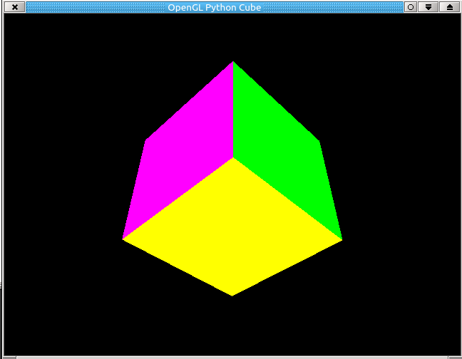 How to make an OpenGL/Glut Cube in Python