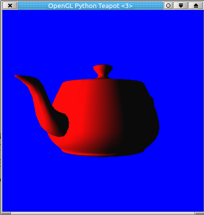 How to make an OpenGL/Glut Teapot in Python